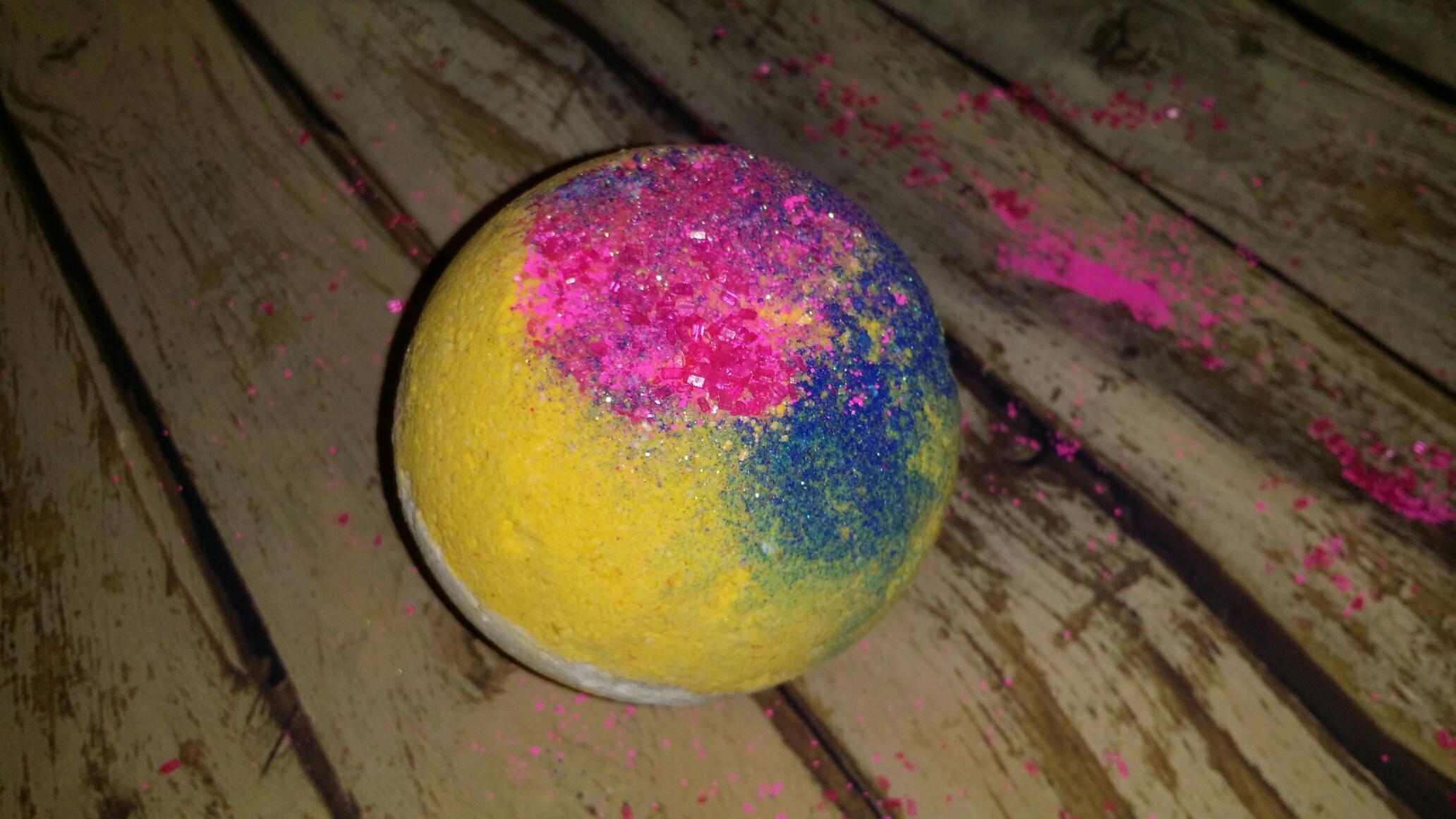jammin rock candy bath bomb